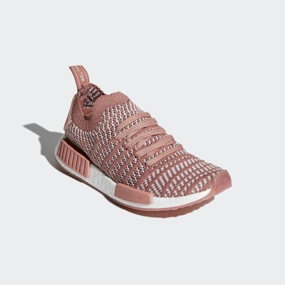 Adidas zapatos NIB NMD R1 stlt primeknit Rosa Blanco poshmark